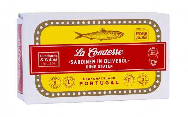 Sardinen in Oliven Öl mit Haut und ohne Gräten, 125 g