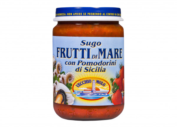 Sugo mit Meeresfrüchten, ital. Pasta-Sauce mit Meeresfrüchten, 130 g
