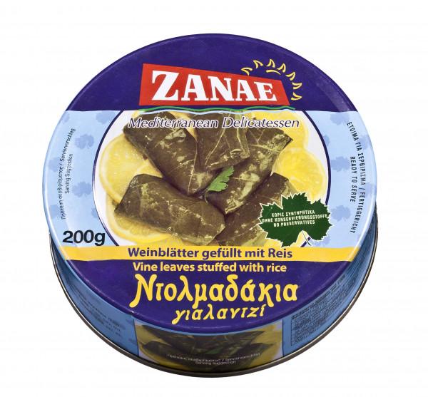 Griech.Weinblätter gefüllt mit Reis in Öl, 200 g