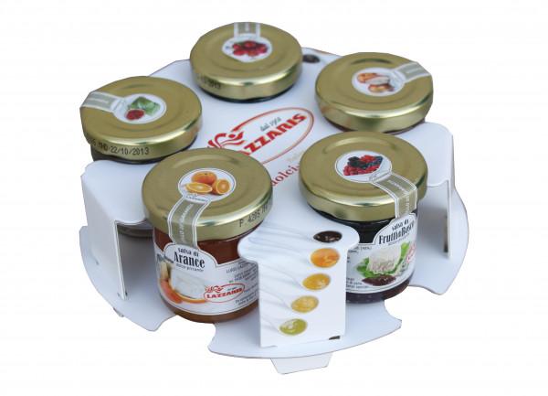 Frucht-Senf-Saucen-Set 5-fach sortiert in der Tisch-Rochade, 5 x 50g