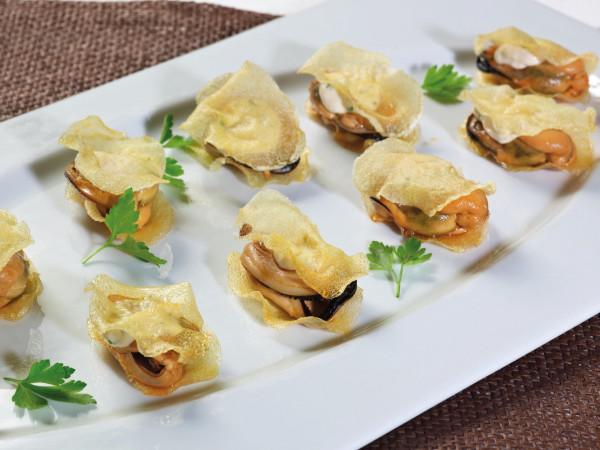 Muscheln-Tapas-mit-Kartoffelchips