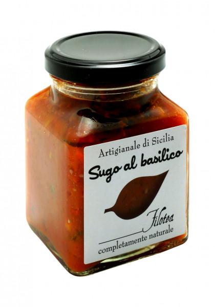 Sugo mit Basilikum, ital. Gourmet- Pasta-Sauce mit Basilikum, 280 g