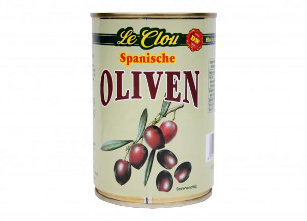 Schwarze Oliven, entsteint, 420 g
