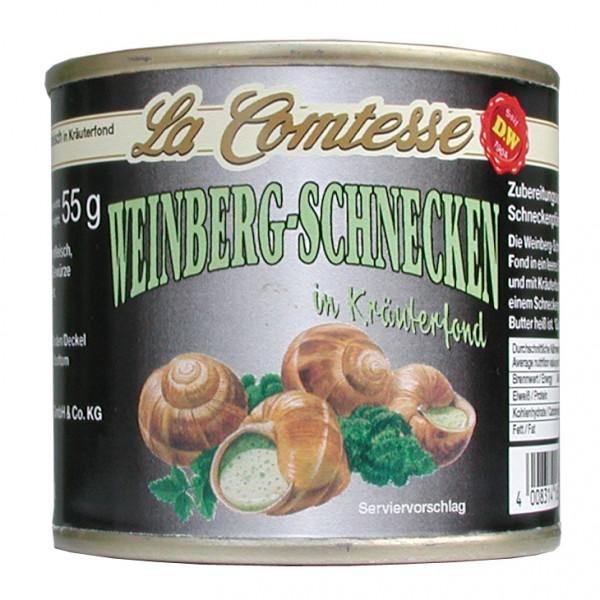 Weinberg-Schnecken, ca. 1 Dtzd. je Dose im Kräuterfond, 100 g