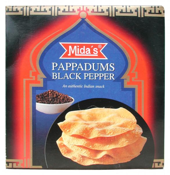 Pappadums, mit schwarzem Pfeffer, 110 g