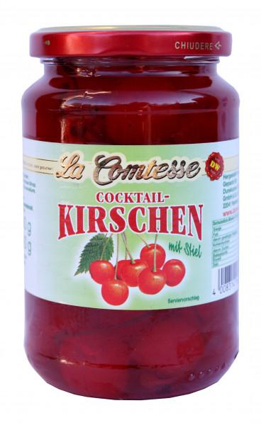 Cocktail-Kirschen rot mit Stiel, 390 g