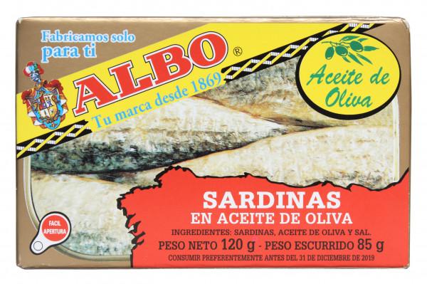 Sardinen in Oliven Öl mit Haut und mit Gräten, 120 g