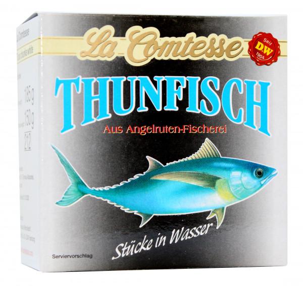 Thunfisch Stücke in Wasser, 185 g