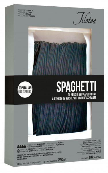 Spaghetti Chitarra al nero di Seppia, Spaghetti, schwarz, mit Tintenfisch, 250 g