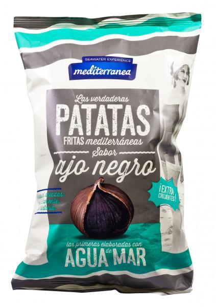 Kartoffel-Chips mit schwarzem Knoblauch und mit Meerwasser gesalzen, 130 g