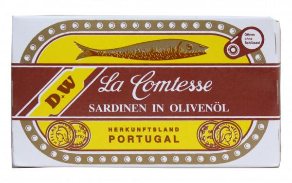 Sardinen in Oliven Öl mit Haut und mit Gräten (plain), 125 g