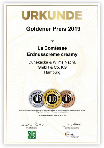 Urkunde-La_Comtesse_Erdnusscreme_creamy