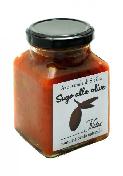 Sugo mit Oliven, ital. Gourmet- Pasta-Sauce mit Oliven, 280 g