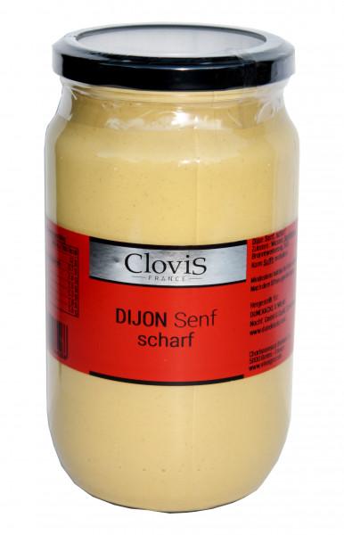 Dijon-Senf, weiß, scharf, 800 ml