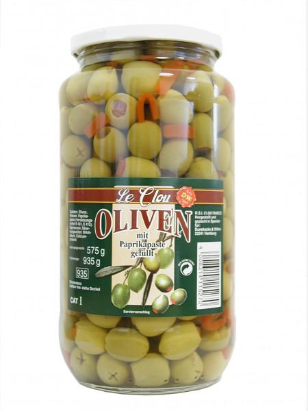 Grüne Oliven mit Paprika, 935 g