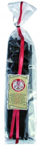 Tagliatelle al Nero Sepia, Bandnudeln schwarz gefärbt, 250 g
