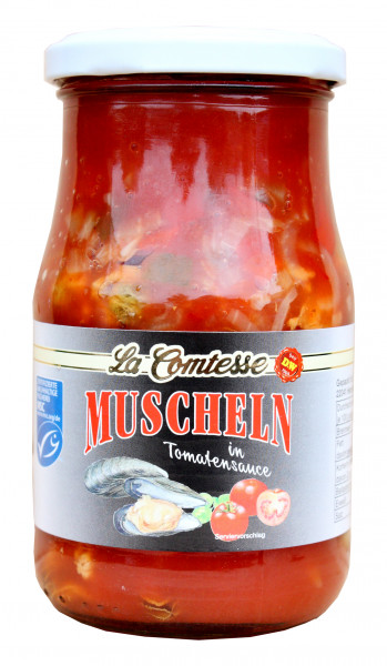 Muscheln in Tomatentunke, 350 g
