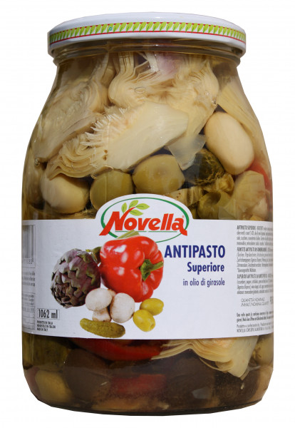 Feinstes ital. Antipasto in Öl, 1062 ml