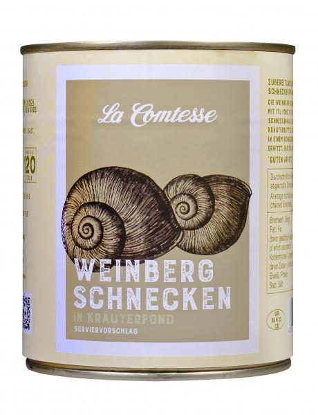Weinberg-Schnecken, ca. 10 Dtzd. je Dose im Kräuterfond, 800 g