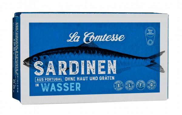 Sardinen naturell in Wasser ohne Haut und ohne Gräten, 125 g