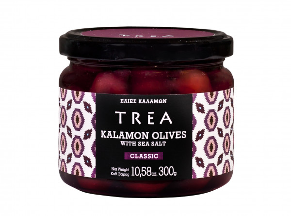 Kalamon- Oliven mit Meersalz, 300 g