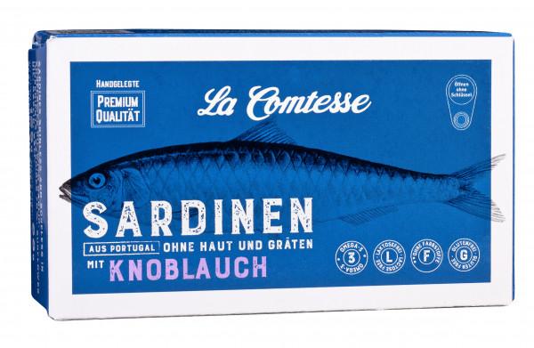Knoblauchsardinen ohne Haut und ohne Gräten, 125 g