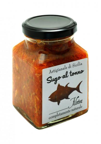 Sugo mit Thunfisch, ital. Gourmet- Pasta-Sauce mit Thunfisch, 280 g