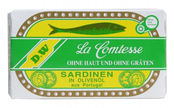 Sardinen in Oliven Öl ohne Haut und ohne Gräten, 125 g