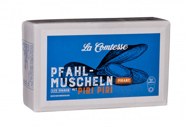 Pfahlmuscheln, pikant mit Piri Piri, 110 g