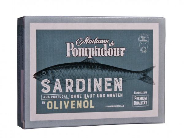 Sardinen in Oliven Öl ohne Haut und ohne Gräten, 105 g