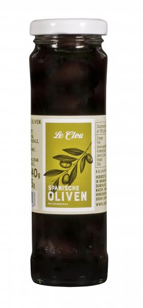 Schwarze Oliven, entsteint, 140 g