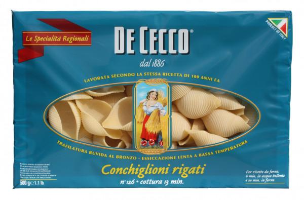 Conchiglioni Rigati Nr. 126, Muscheln gerippt, 500 g