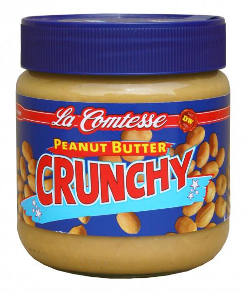 Erdnusscreme crunchy, 350 g GLAS