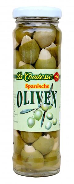 Grüne Oliven mit Mandeln, handpack, 140 g