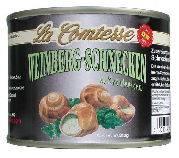 Weinberg-Schnecken, ca. 2 Dtzd. je Dose im Kräuterfond, 200 g