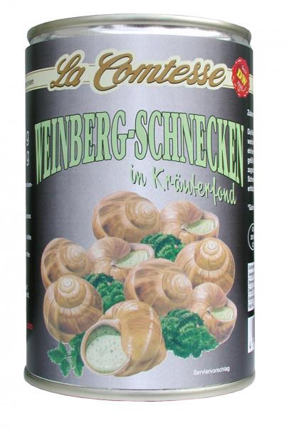 Weinberg-Schnecken, ca. 5 Dtzd. je Dose im Kräuterfond, 400 g