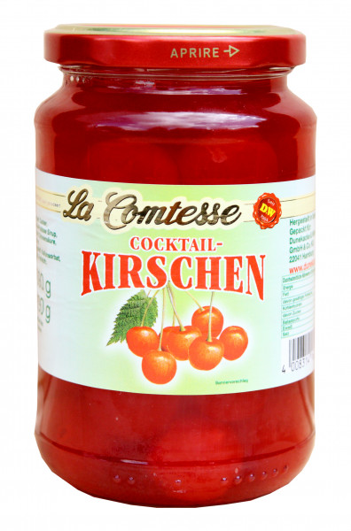 Cocktail-Kirschen, rot, 390 g