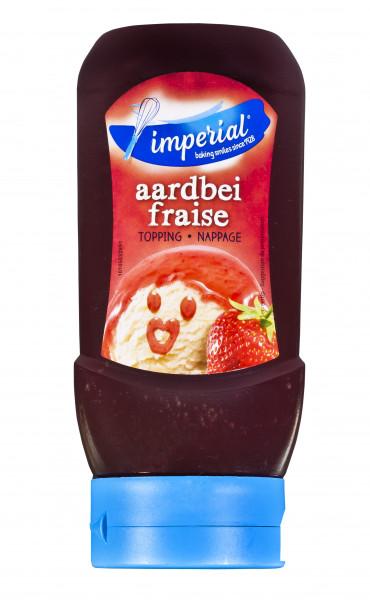 Erdbeer-Sauce für Eis & Desserts in der praktischen Squeezeflasche, 290 ml